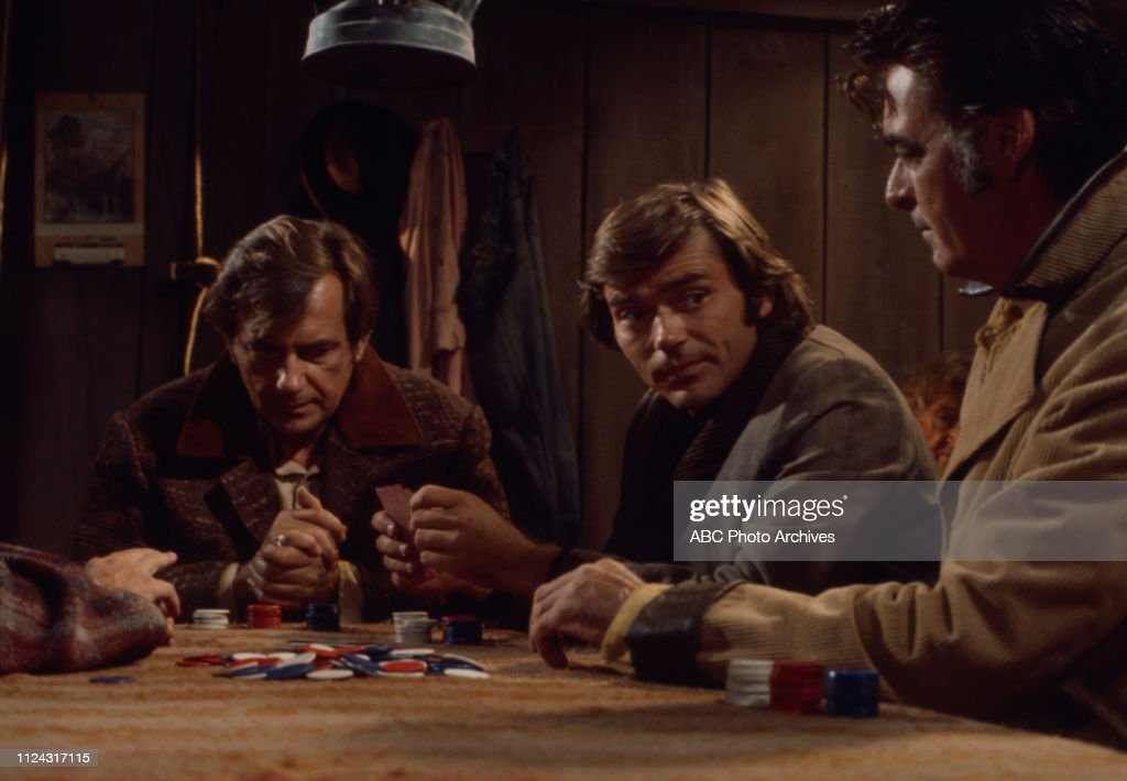 Jack Kelly, Pete Duel, Rory Calhoun Appearing In 'Alias Smith And Jones' : News Photo