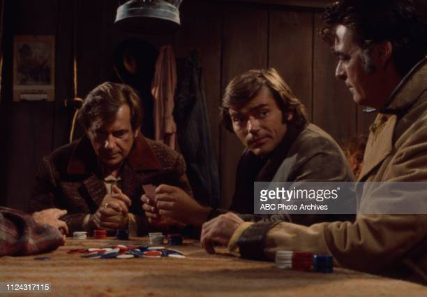 Jack Kelly Pete Duel Rory Calhoun appearing in the Walt Disney Television via Getty Images series 'Alias Smith and Jones' episode 'Night of the Red...