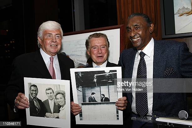 Jack Kemp Regis Philbin and Artist Ernie Barnes at the Tribute to Ernie Barnes His Art and Inspiration at the Time Warner Center on October 23 2007...