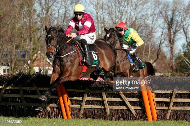 Jack Kennedy riding Apple's Jade clear the last to win The BHP Insurance Irish Champion Hurdle from Robbie Power and Supasundae at Leopardstown...