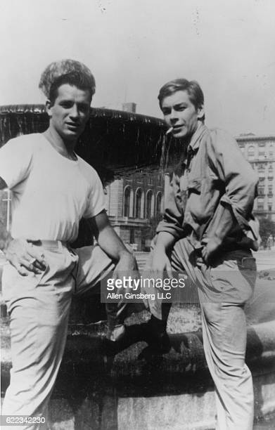 Jack Kerouac and Lucien Carr on the Columbia University Campus New York New York