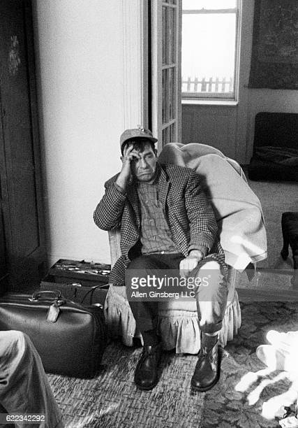 Jack Kerouac looks tired and sad while visiting Allen Ginsberg's apartment for the last time