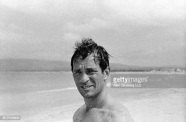Jack Kerouac Smiling on Beach