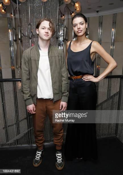 Jack Kilmer and Eva Dolezalova attend Flaunt and Ermenegildo Zegna's celebration of The Prelude Issue with Bill Skarsgard at Beauty Essex on July 23...
