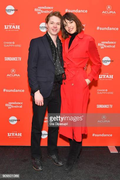 Jack Kilmer and Eva Dolezalova attend the Lords Of Chaos Premiere during the 2018 Sundance Film Festival at Park City Library on January 23 2018 in...