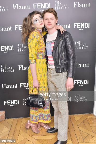 Jack Kilmer and guest attend FENDI x Flaunt Celebrate The New Fantasy Issue at Casa Perfect on March 21 2018 in Beverly Hills California