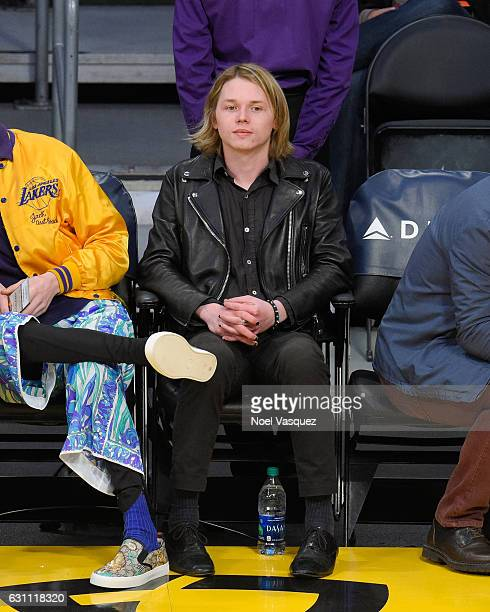 Jack Kilmer attends a basketball game between the Miami Heat and the Los Angeles Lakers at Staples Center on January 6 2017 in Los Angeles California