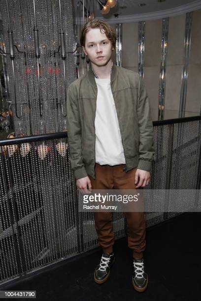 Jack Kilmer attends Flaunt and Ermenegildo Zegna's celebration of The Prelude Issue with Bill Skarsgard at Beauty Essex on July 23 2018 in Los...