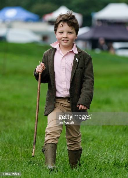 Jack King from Sutton Howgrave visits the 41st North Yorkshire County Show at Camp Hill Estate on June 16 2019 in Bedale England The North Yorkshire...