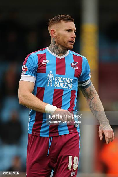 Jack King of Scunthrope United during the Sky Bet League One match between Scunthorpe United and Shrewsbury Town at Glanford Park on October 17 2015...