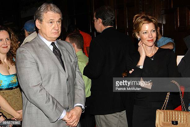 Jack Kliger and Robbie Myers attend CooperHewitt FASHION IN COLORS Exhibition Opening and Reception at CooperHewitt on December 8 2005 in New York...