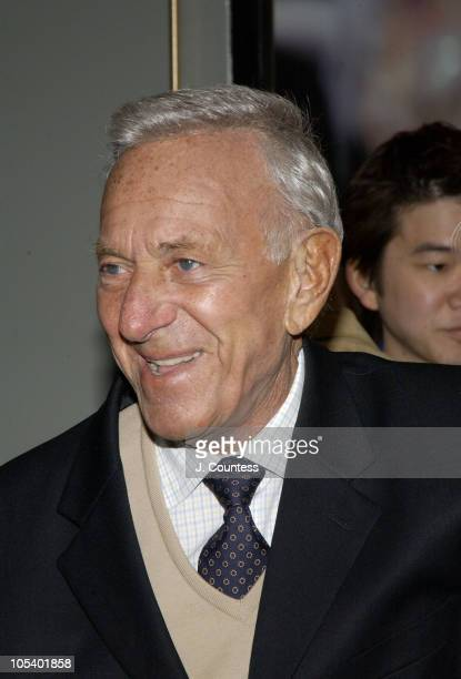 Jack Klugman during Opening Night of Jumpers Arrivals at Brooks Atkinson Theater in New York City New York United States