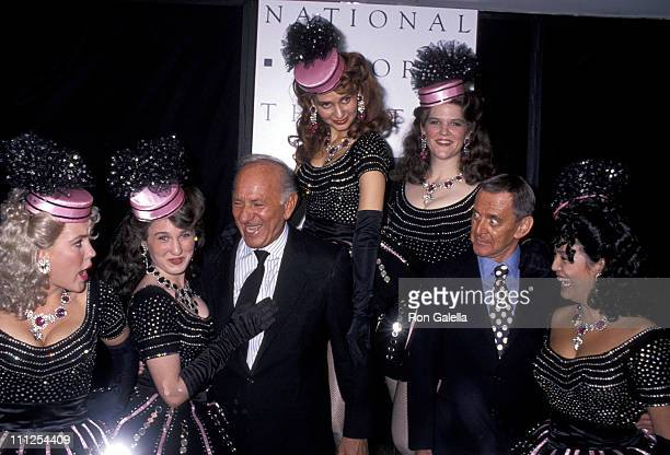 Jack Klugman Tony Randall and Burlesque Girls during The National Actors Theater Presents The Jack and Tony Burlesque Show at Roseland in New York...