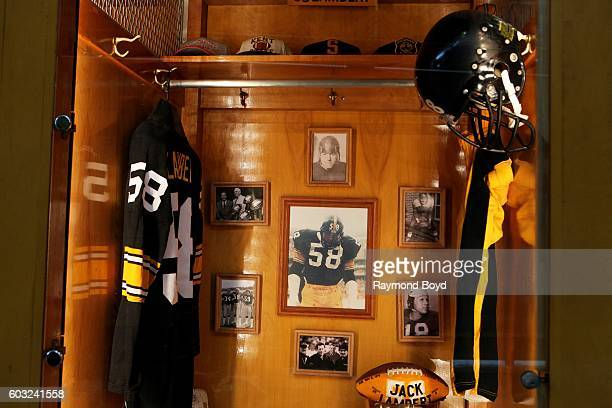 Jack Lambert locker encased in the Pittsburgh Steelers 'Walk Of Fame' in the Great Hall concourse inside Heinz Field home of the Pittsburgh Steelers...