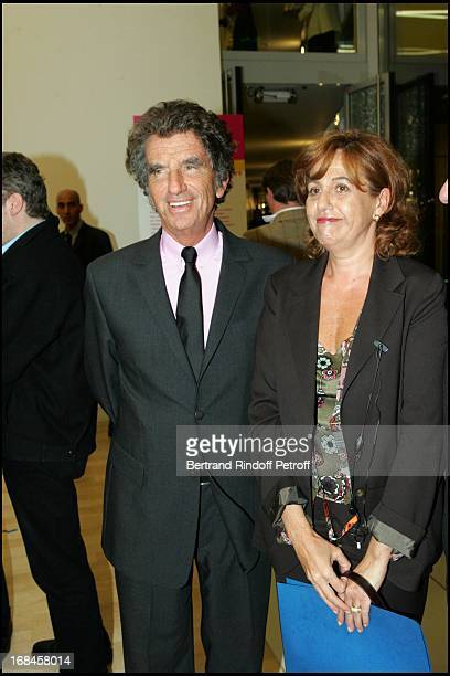 Jack Lang and Anne Barrere at Inauguration Of Maison De Solenn A House For Teenagers Sponsored By Bernadette Chirac At Cochin Hospital In Paris