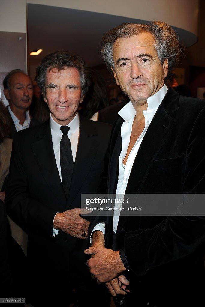Jack Lang and Bernard-Henri Levy attend the premiere of 'L'Amour Fou - Yves Saint Laurent - Pierre Berge' in Paris.