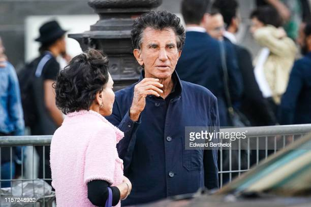 Jack Lang and his wife are seen outside Karl for Ever Tribute to Karl Lagerfeld at Grand Palais during Paris Fashion Week Menswear Spring/Summer 2020...