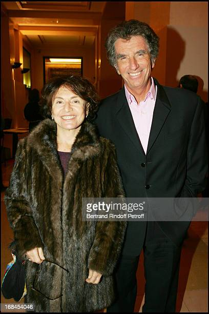 Jack Lang and his wife Monique at 100th Episode Of 'Campus' Of Guillaume Durant At Le Cafe De L'Homme Restaurant At The Trocadero