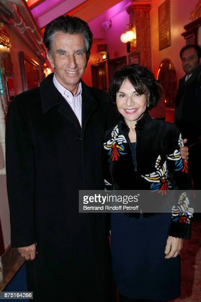 Jack Lang and his wife Monique attend 'Depardieu Chante Barbara' at 'Le Cirque D'Hiver' on November 16 2017 in Paris France