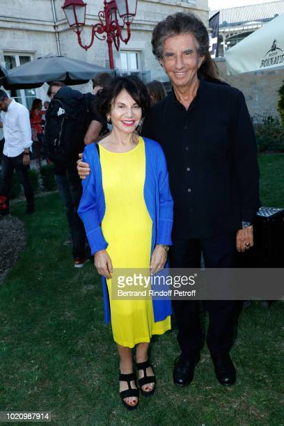 Jack Lang and his wife Monique attend the 11th Angouleme FrenchSpeaking Film Festival Day One on August 21 2018 in Angouleme France