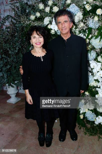 Jack lang and his wife Monique attend the 16th Sidaction as part of Paris Fashion Week on January 25 2018 in Paris France