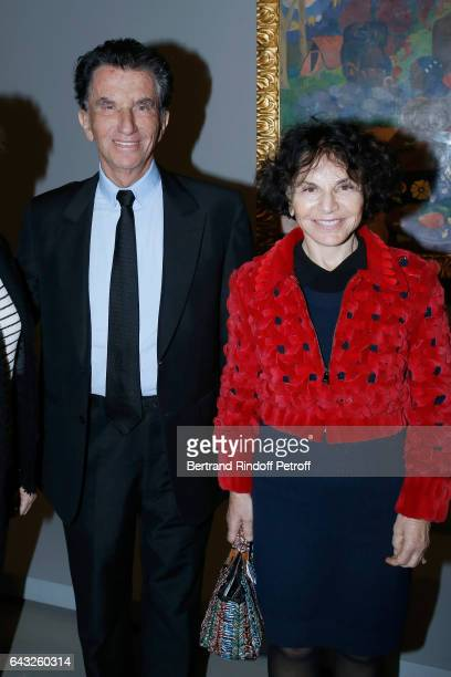 Jack Lang and his wife Monique Lang attend the Private View of 'Icones de l'Art Moderne la Collection Chtchoukine' at Fondation Louis Vuitton on...