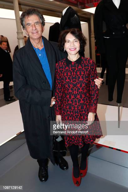 Jack Lang and his wife Monique Lang attend the Tribute To Azzedine Alaia as part of Paris Fashion Week on January 20 2019 in Paris France
