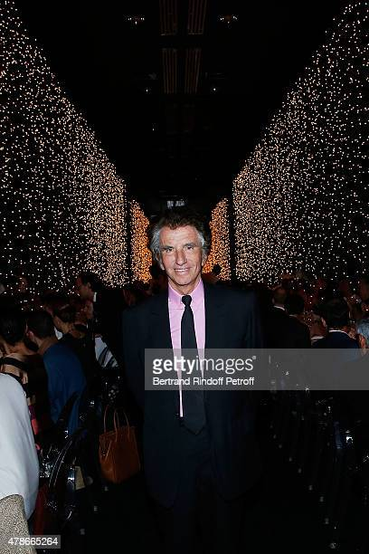 Jack Lang attends the Dinner for Honored Designer Driess Van Notten Officier des Arts et Lettres by Jack Lang at Institut du Monde Arabe on June 26...