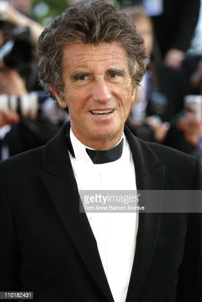 Jack Lang during 2003 Cannes Film Festival Tulse Luper Suitcases Premiere at Palais des Festivals in Cannes France