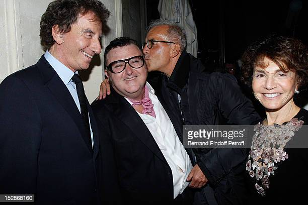 Jack Lang former French Minister of Culture Lanvin Creative Director Alber Elbaz Ralph Toledano Jean Paul Gaultier Puig Chairman and Monique Lang...
