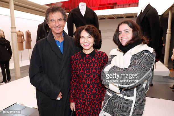 Jack Lang his wife Monique Lang and their Granddaughter Anna attend the Tribute To Azzedine Alaia as part of Paris Fashion Week on January 20 2019 in...