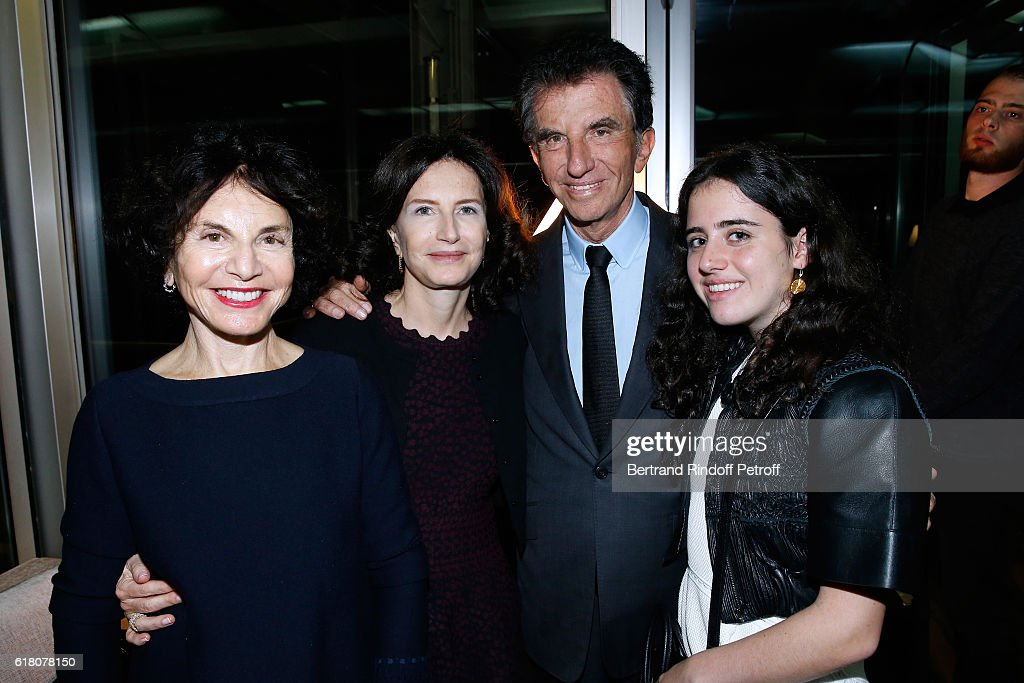 Jack Lang, his wife Monique Lang, their daughter Caroline Lang and their Granddaughter Anna attend the Japenese Artist Takeshi Kitano receives the French Legion of Honor By Jack Lang at Fondation Cartier on October 25, 2016 in Paris, France.