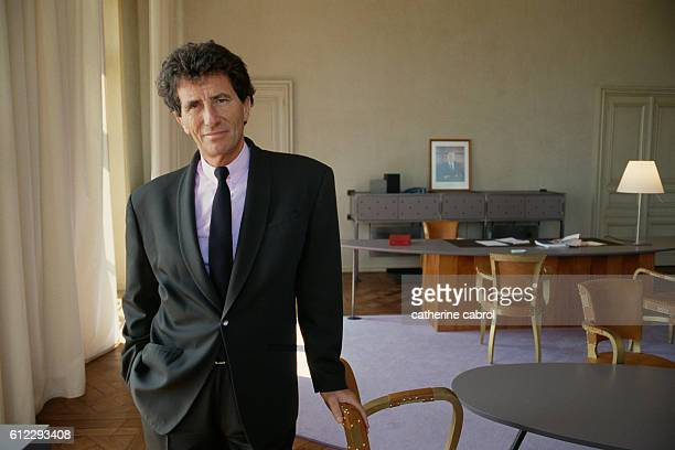 Jack Lang in his office at Blois town hall