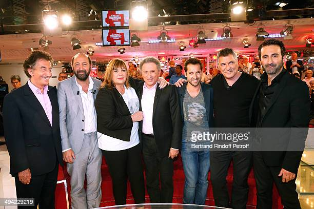 Jack Lang main guest of the show Kad Merad Michele Bernier Michel Drucker Frederic Diefenthal JeanMarie Bigard and Mathieu Madenian attend the...