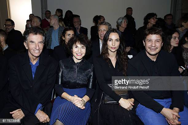 Jack Lang Monique Lang Anna Lang and Artist Adel Abdessemed attend the Azzedine Alaia Fashion Show at Azzedine Alaia Gallery on October 23 2016 in...
