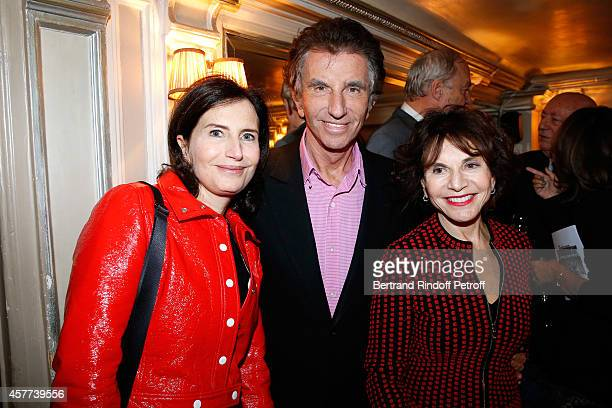 Jack Lang standing between his wife Monique and their daughter Caroline attend the Monnaie De Paris Reopening Party with Opening of the McCarthy...