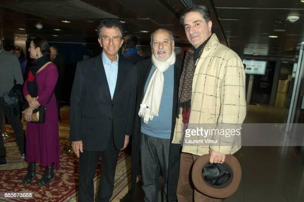 Jack Lang Tahar Ben Jelloun and Simon Abkarian attends the 30th anniversary celebration of Institut du Monde Arabe Institut du Monde Arabe on...