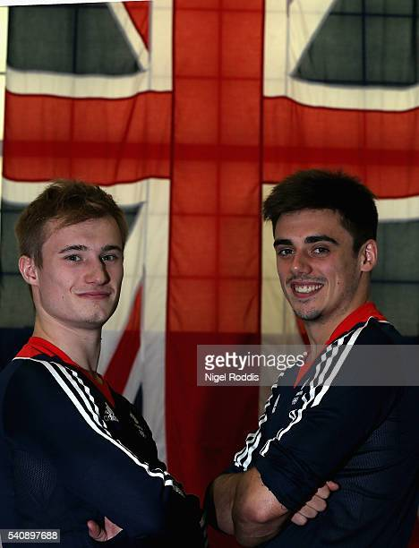 Jack Laugher and Chris Mears of Britain pose for a picture as the Team GB diving team is announced for the Rio 2016 Olympic Games at the John Charles...