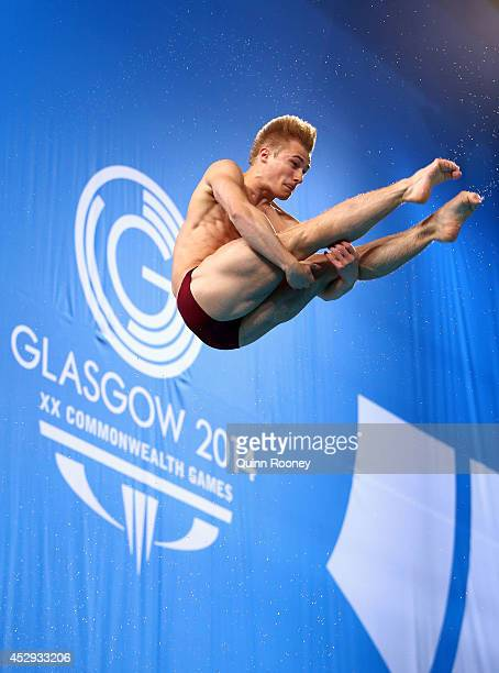 Jack Laugher of England competes in the Men's 1m Springboard Final at Royal Commonwealth Pool during day seven of the Glasgow 2014 Commonwealth Games...