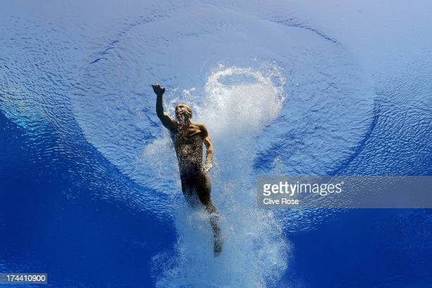 Jack Laugher of Great Britain competes in the Men's 3m Springboard Diving semi final on day six of the 15th FINA World Championships at Piscina...