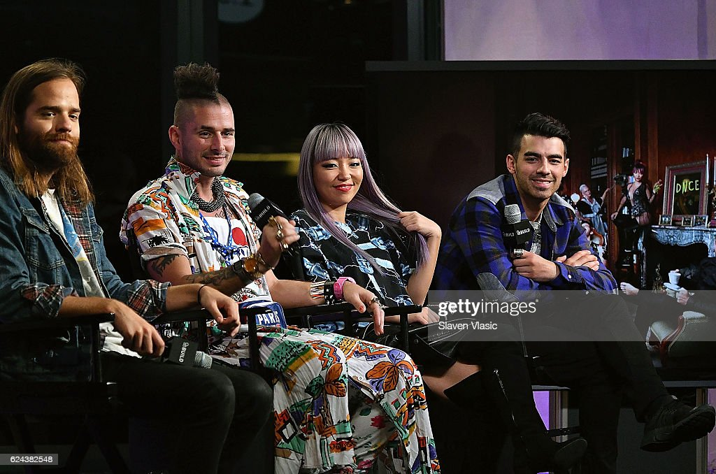 Jack Lawless, Cole Whittle, JinJoo Lee and Joe Jonas of 'DNCE' visit AOL BUILD at AOL HQ on November 18, 2016 in New York City.