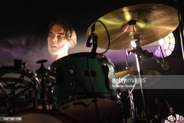 Jack LawrenceBrown of White Lies performs on stage at The Liquid Room on February 11 2019 in Edinburgh Scotland