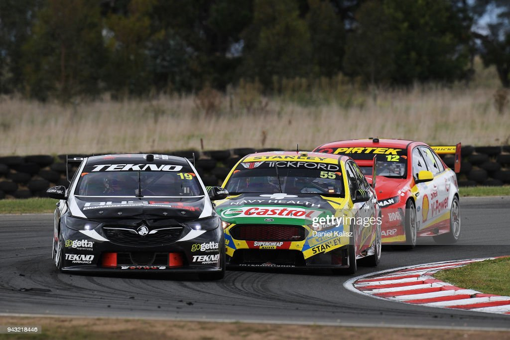 Jack Le Brocq drives the #19 Tekno Autosports Holden Commodore ZB during race 2 for the Supercars Tasmania SuperSprint on April 8, 2018 in Hobart, Australia.