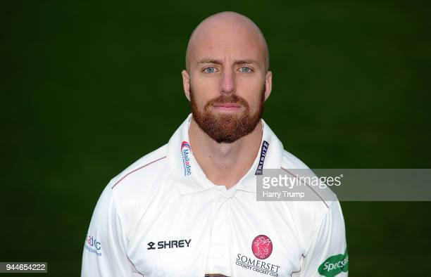 Jack Leach of Somerset CCC during the Somerset CCC Photocall at The Cooper Associates County Ground on April 11 2018 in Taunton England