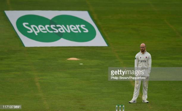 Jack Leach of Somerset looks on during the fourth day of the County Championship Division One match between Somerset and Essex on September 26 2019...