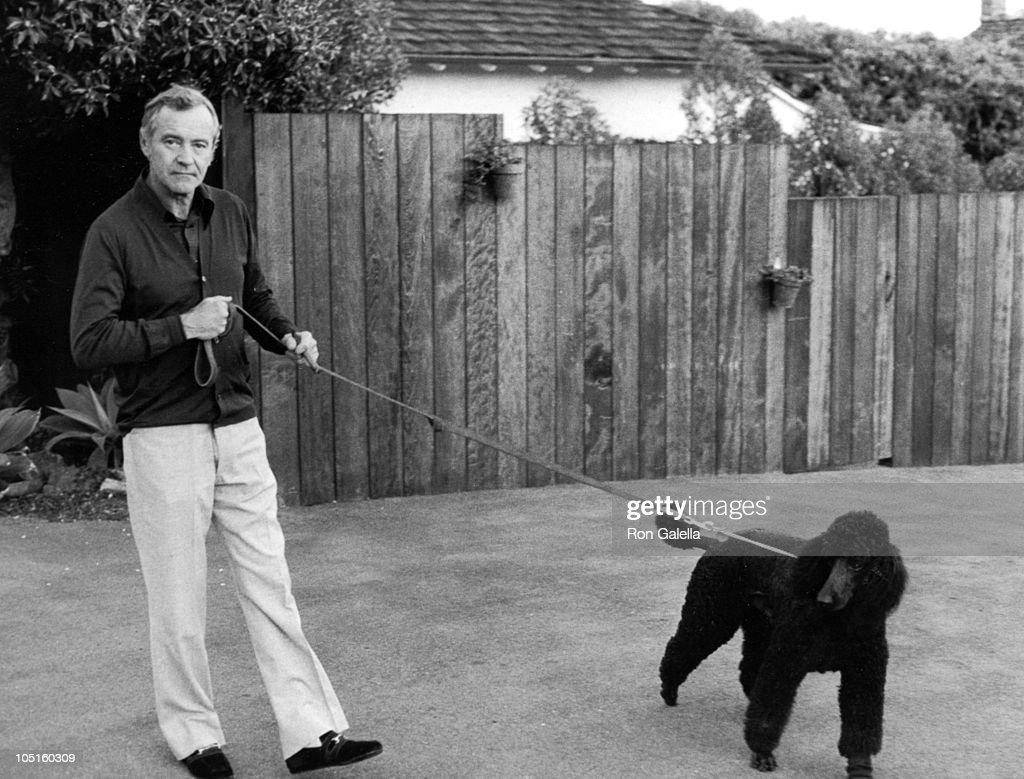 Jack Lemmon Walking his dog