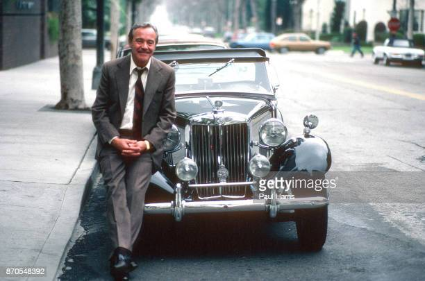 Jack Lemmon was an eight time Academy Award nominee with two wins He leans against his 1954 MG TD outside his office September 20 1988 Beverly Hills...