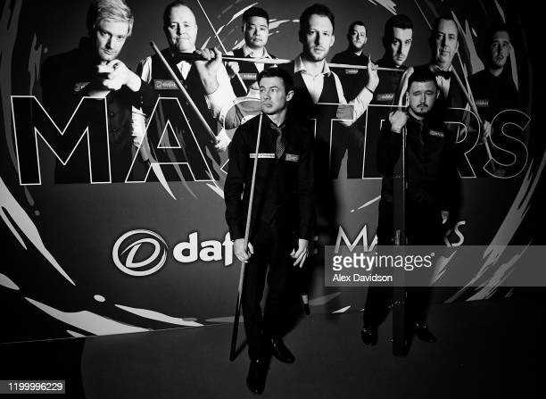 Jack Lisowski and Kyren Wilson look on prior to their 1st round match on Day Four of the Dafabet Masters at Alexandra Palace on January 15 2020 in...
