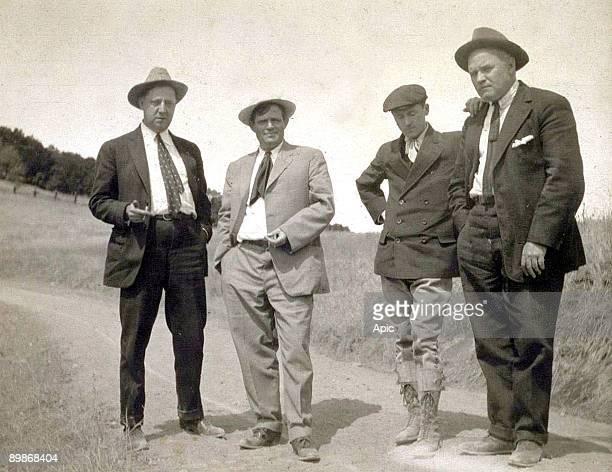 Jack London with Harrison Fisher Herbert Heron and Harry Leon Wilson c 1915