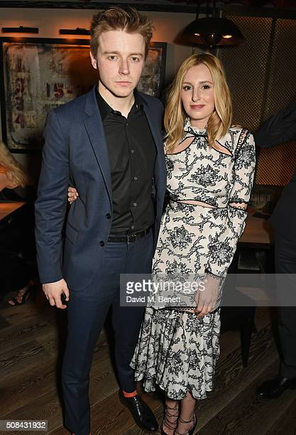 Jack Lowden and Laura Carmichael attend the InStyle EE Rising Star party ahead of the EE BAFTA Awards at 100 Wardour St on February 4 2016 in London...